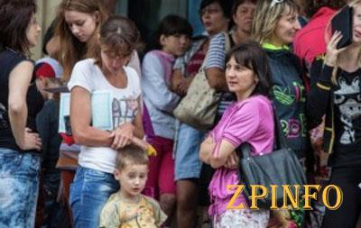 В Запорожской области находятся более 62 тыс. беженцев