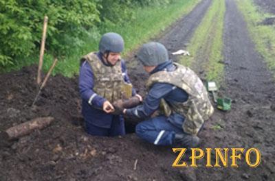 В Запорожской области нашли снаряды
