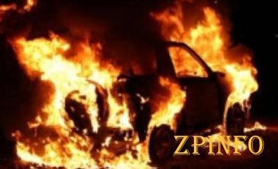 В Запорожской области ночью горела машина