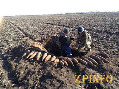 В Запорожской области обезвредили 43 артснаряда