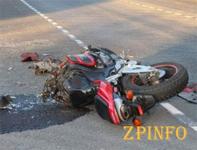 В Запорожской области перевернулся мотоциклист