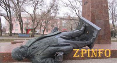 В Запорожской области повалили всех Лениных