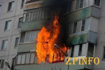 В Запорожской области пылал жилой дом