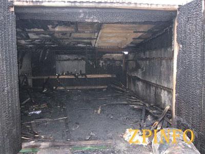 В Запорожской области сгорел дотла гараж