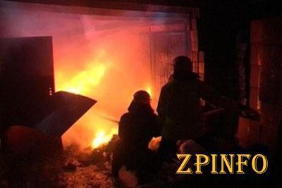 В Запорожской области сгорел гараж