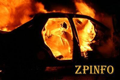 В Запорожской области сгорела машина