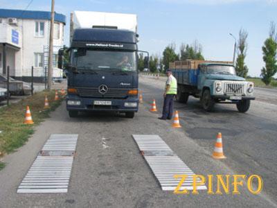 В Запорожской области снова будут взвешивать грузовики
