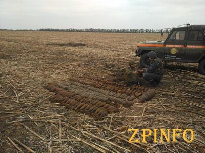 В Запорожской области уничтожили сотню снарядов и мин