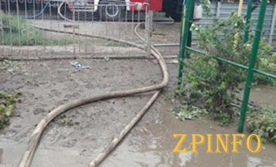 В Запорожской области вода затопила дома