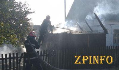 В Запорожской области вспыхнул пожар