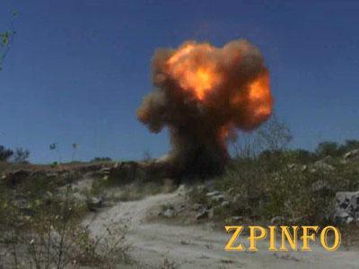 В Запорожской области взорвали боеприпасы