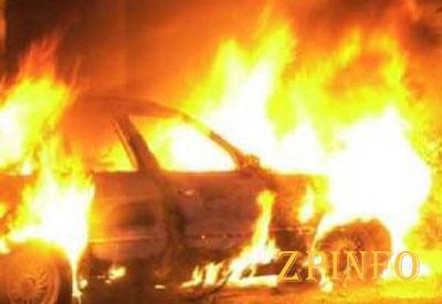 В Запорожской области на трассе взорвался автомобиль