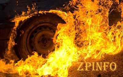 В Запорожской области загорелась иномарка