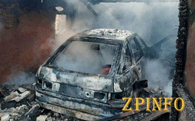В Запорожье загорелась машина