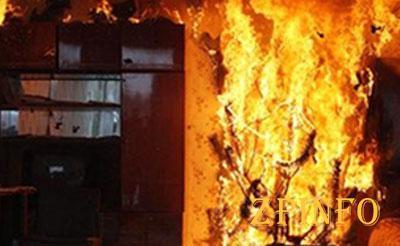 В Запорожской области загорелась многоэтажка