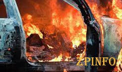 В Запорожской области загорелся автомобиль