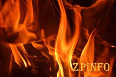 В Запорожской области загорелся частный дом