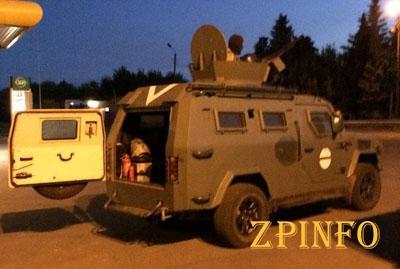 В Запорожскую область направлялся грузовик набитый боеприпасами