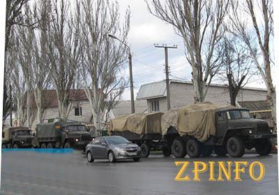 Военные уже в Мелитополе