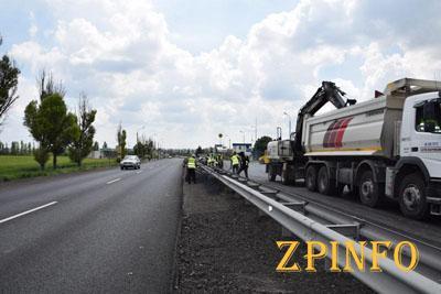 Закончен ремонт дороги Запорожье — Днепр