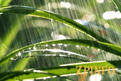 Запорожье неожиданно накрыло дождём