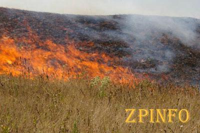 Запорожье по-прежнему охватывают пожары