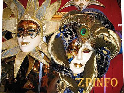 Запорожские улицы украсят венецианскими масками