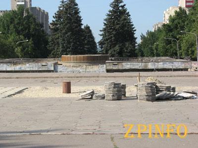 Запорожский фонтан передадут коммунальщикам