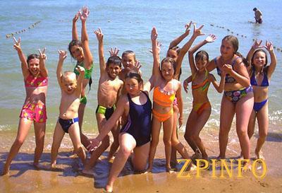 Запорожский курорт принимает детей с Донбасса