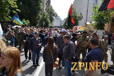 Запорожский Правый сектор будет каждый день выходить на акцию протеста (Видео)