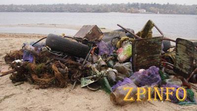 Запорожцев зовут убирать Ждановский пляж