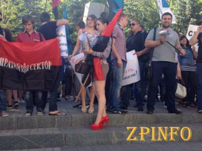 Запорожцы провели митинг у стен областного управления милиции (Видео)
