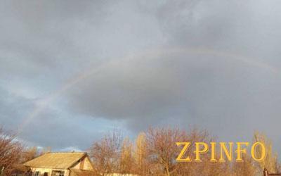 Запорожцы в декабре наблюдали в небе радугу