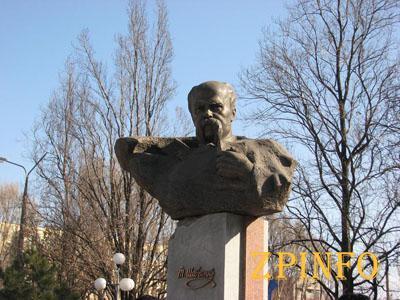 Запорожцы возложат цветы к бюсту Шевченко
