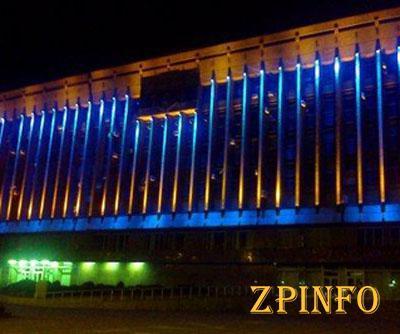 Здание Запорожской обладминистрации украсили подсветкой