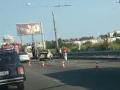 На запорожской дамбе произошло ДТП